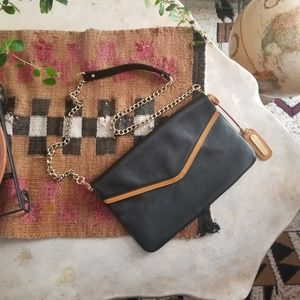 Cynthia Rowley REAL LEATHER Shoulder Clutch NWOT